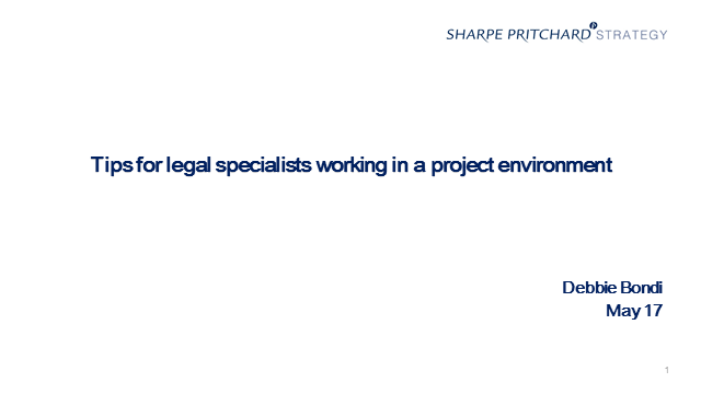 Tips for legal specialists working in a project environment