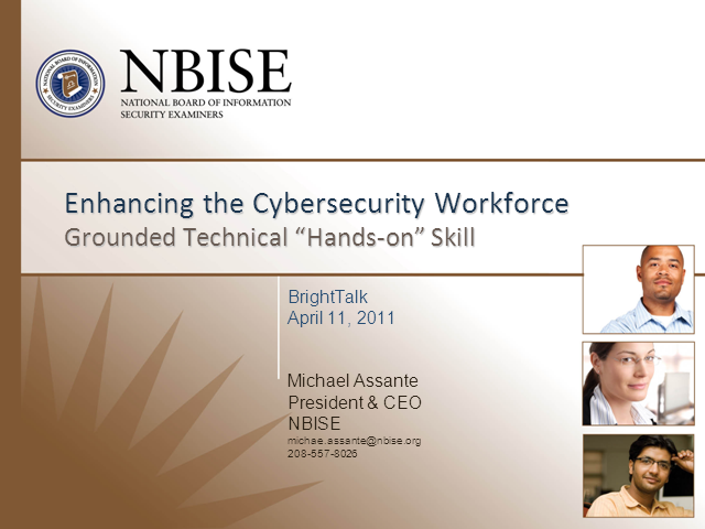 Enhancing the Cybersecurity Workforce