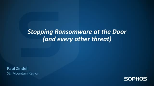 Stopping Ransomware at the Door (and Every Other Threat)