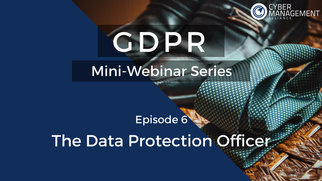 GDPR Training Lesson 6 - The Data Protection Officer