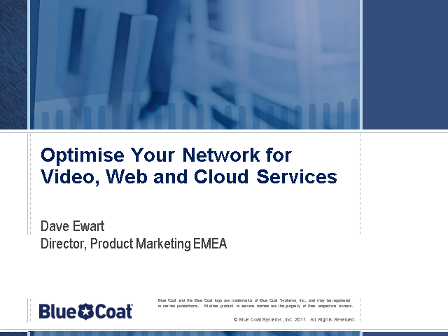 Optimise your WAN for video, web and cloud services