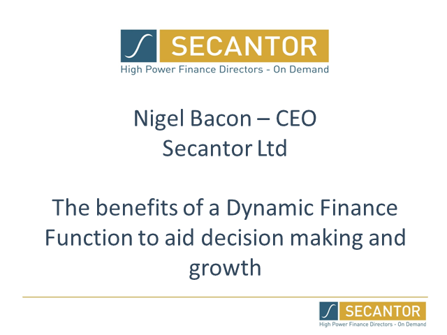 Benefits of a Dynamic Finance Function to Aid Decision Making