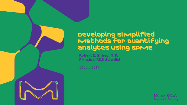 Developing Simplified Methods for Quantifying Analytes using  SPME