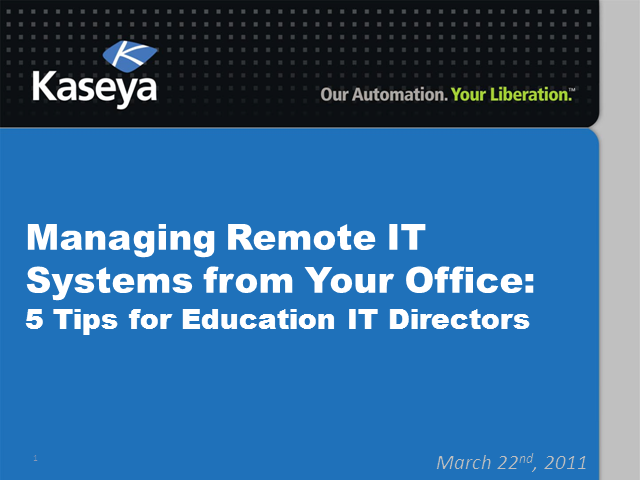 Managing Remote IT Systems: 5 Tips for Education IT Directors