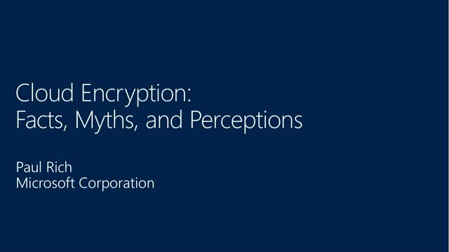 Cloud Services and Encryption: Facts, Myths, Perceptions