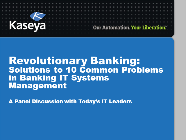 Revolutionary Banking: Solutions to 10 Common Problems