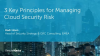 3 Key Principles for Managing Cloud Security Risk
