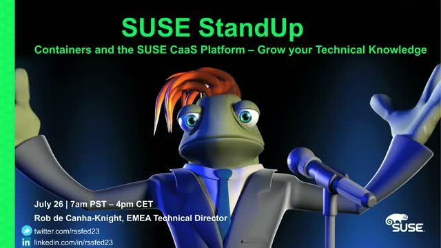 Deploying SUSE CaaS Platform and container-based applications- Technical Webinar