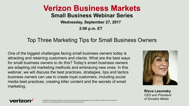 Top Three Marketing Tips for Small Business Owners