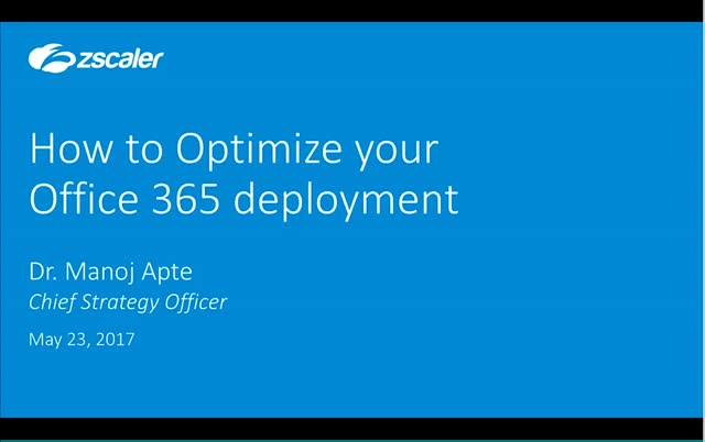 How to Optimize your Office 365 deployment