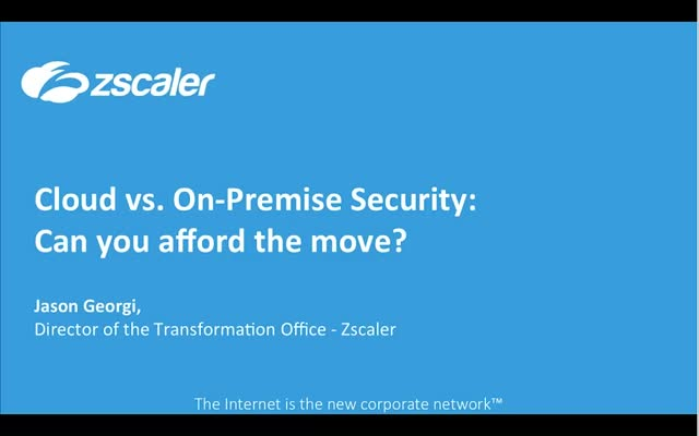 Cloud vs. On-Premises Security: Can you afford not to switch?