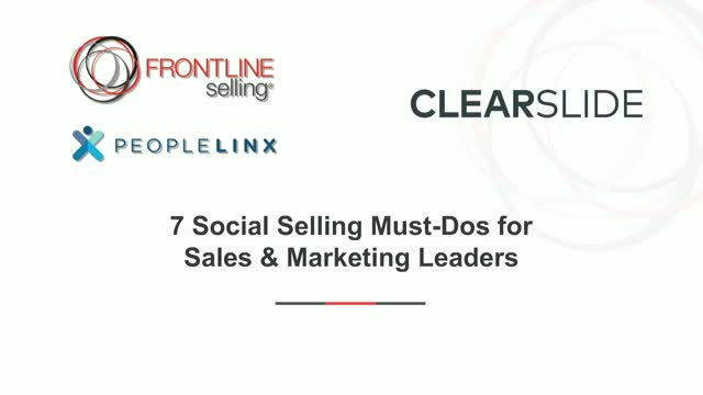 7 Social Selling Must-Dos for Sales and Marketing Leaders