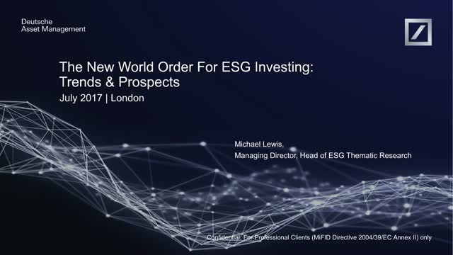 The New World Order for ESG investing: Trends and Prospects