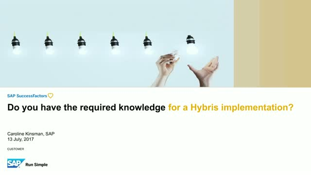 Do you have the required knowledge for a Hybris implementation programme?