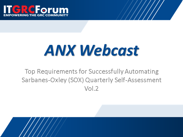 Top Requirements for Successfully Automating SOX: Part 2