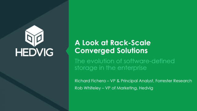 A Closer Look at Software-Defined Storage & Rack-Scale Converged Infrastructure