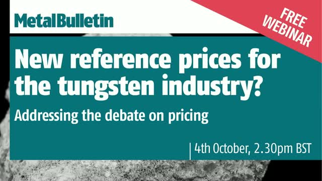 New reference prices for the tungsten industry? Addressing the debate on pricing