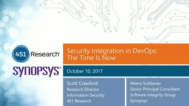Getting Application Security Up to Speed with DevOps