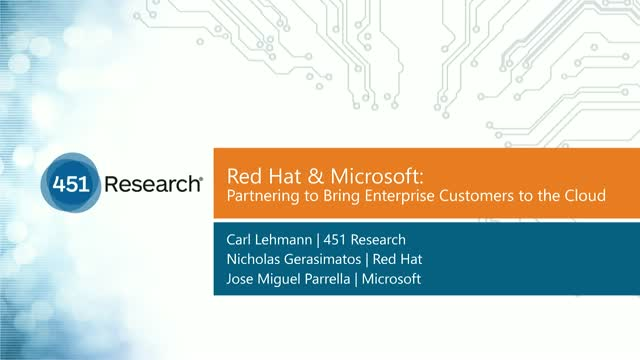 Red Hat and Microsoft: Partnering to bring Enterprise Customers to the Cloud