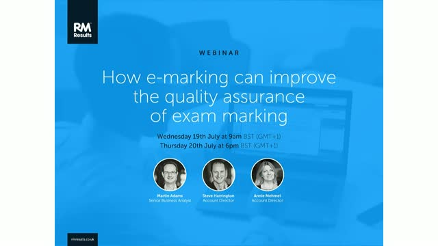 How e-marking can improve the quality assurance of exam marking