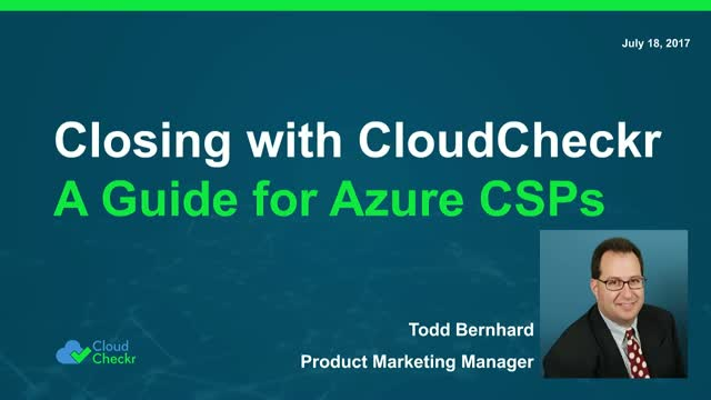 Closing with CloudCheckr - A Guide for Azure CSP Partners