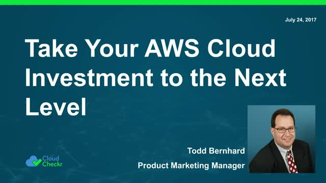 Take Your AWS Cloud Investment to the Next Level