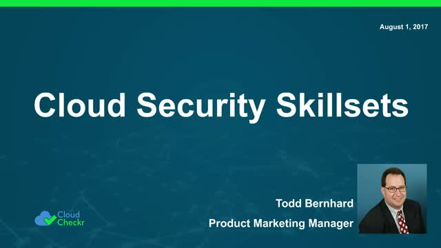 Back to School: Cloud Security Skills You Need in 2017 & Beyond
