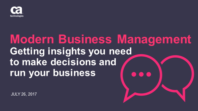 Today's Modern Business Management