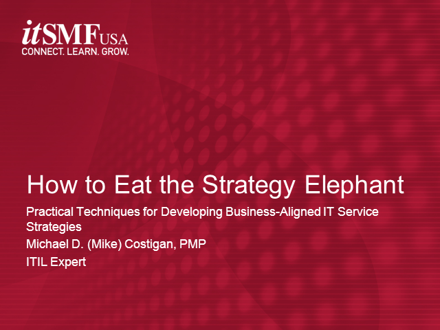 How to Eat the Strategy Elephant