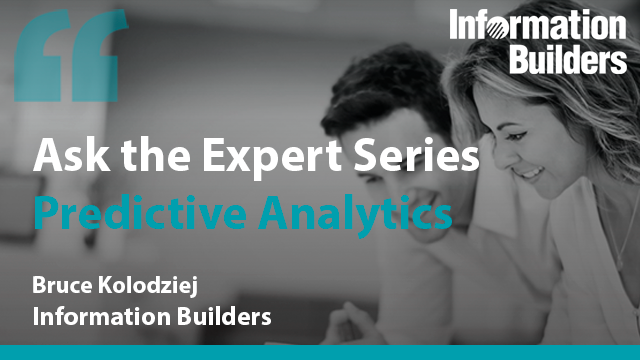 Ask the Expert Series: Predictive Analytics