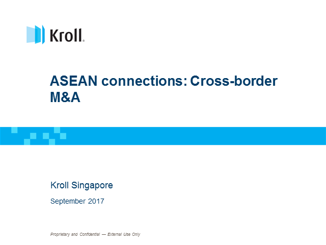 ASEAN connections: Cross-border M&A