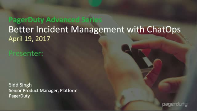 Better incident Management with ChatOps
