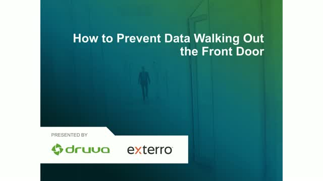How to Prevent Data Walking Out the Front Door