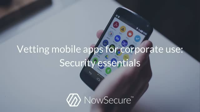 Vetting mobile apps for corporate use: Security essentials