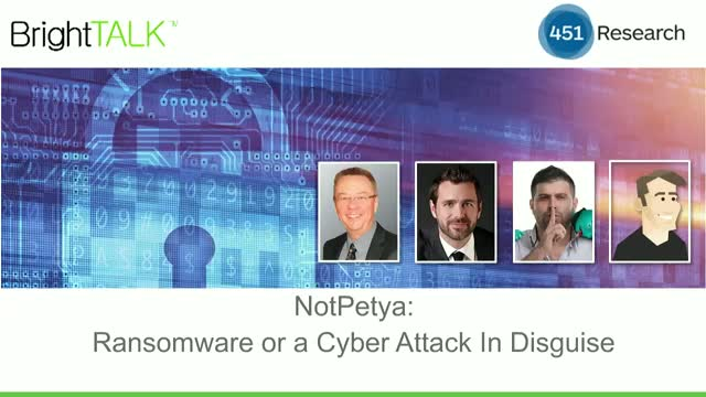 NotPetya: Ransomware Or a Cyber Attack in Disguise