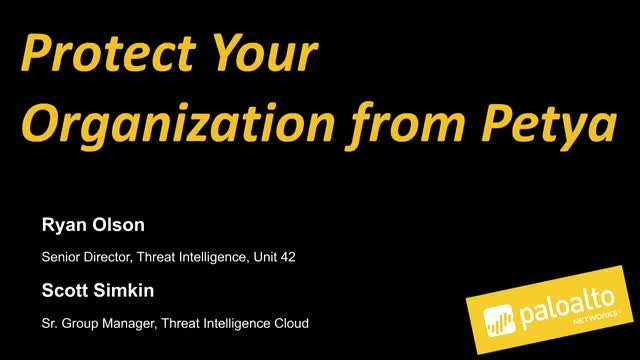 Protect your organization from Petya