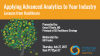 Applying Advanced Analytics to Your Industry - Lessons from Healthcare