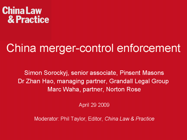 China merger-control enforcement