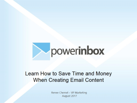 Learn How to Save Time and Money When Creating Email Content