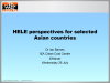 HELE perspectives for selected Asian countries