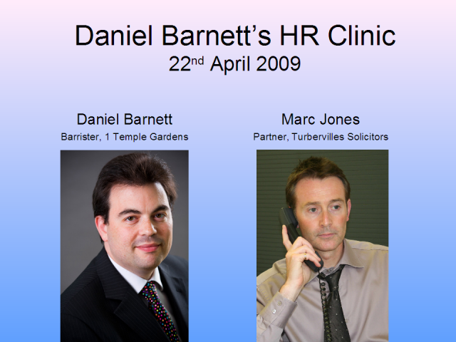 HR Clinic - 22nd April 2009