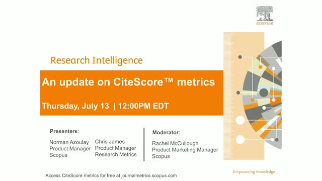 CiteScore metrics - New values launched along with some improvements