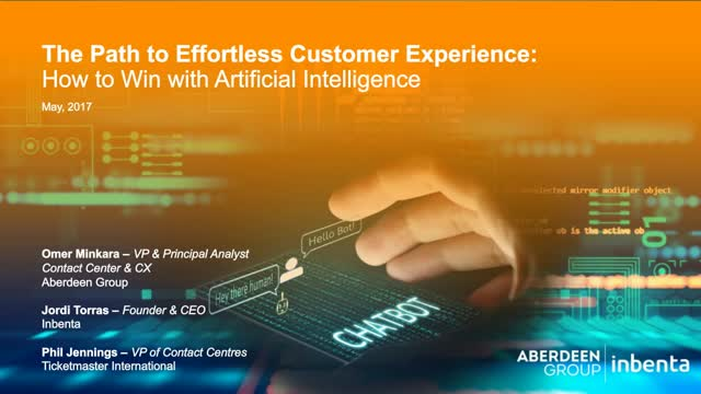 The Path to Effortless Customer Experience: How to Win with AI