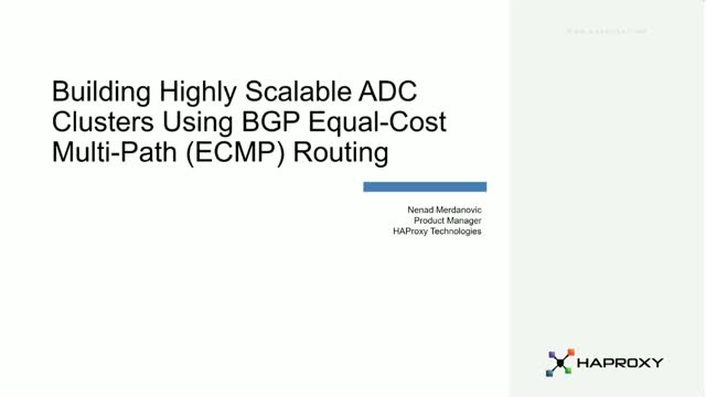 Building Highly Scalable ADC Clusters with Equal-cost Multi-Path Routing