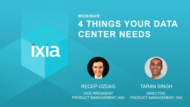 4 Things Your Data Center Needs