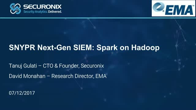 SPARK On Hadoop Is The Next Gen SIEM