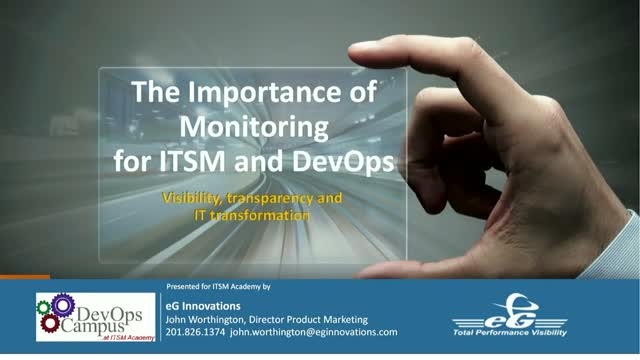 The Importance of Monitoring for ITSM and DevOps