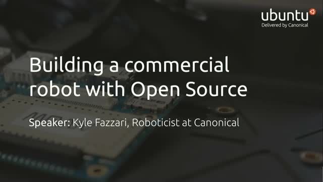 Building a commercial robot with open source
