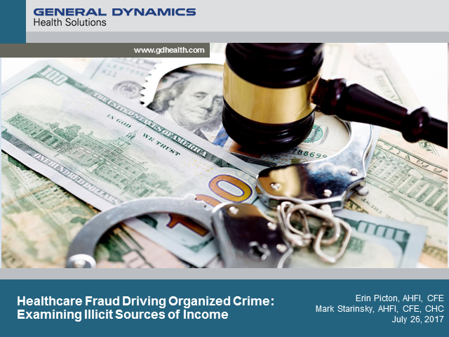 Healthcare Fraud Driving Organized Crime: Examining Sources of Illicit Income