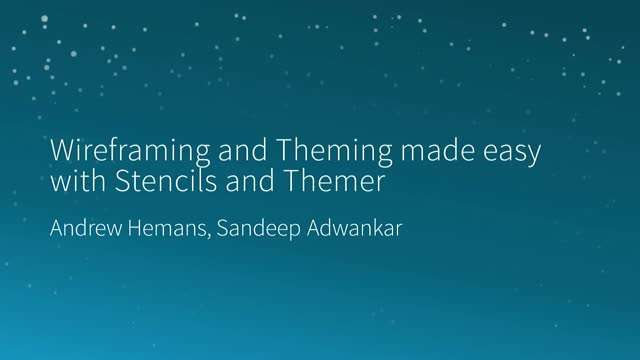 Wireframing and Theming made easy with Stencils and Themer